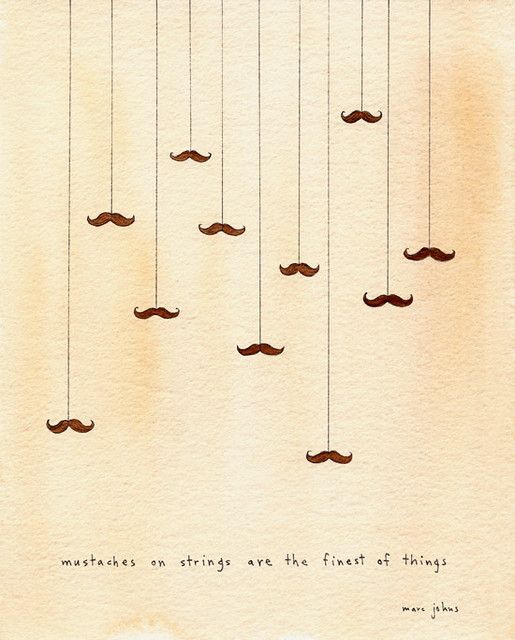 mustaches on strings are the finest of things