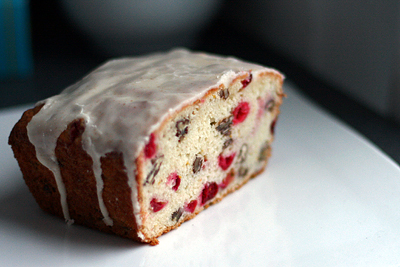 Cranberry Nut Bread with Brown Butter Icing