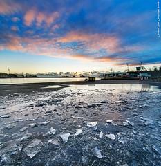 Explosion of ice (Rob Orthen) Tags: sea sky ice suomi finland helsinki nikon europe cityscape scenic rob tokina scandinavia dri meri maisema vesi syksy verticalpanorama pinta d300 jää 1116 digitalblending orthen vertorama roborthenphotography tokina1116 tokina1116mm28 seafinland jäätynytlammikko pystypanorama