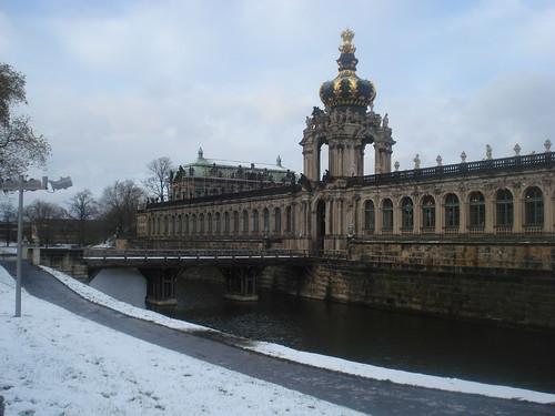 El centre de Dresden nevat