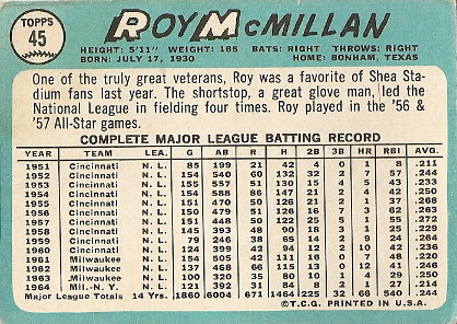 Roy McMillan (back) by you.