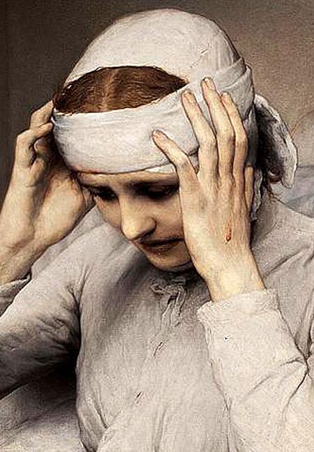 Gabriel Cornelius Ritter von Max, The Ecstatic Virgin Anna Katharina Emmerich, (detail) 1885