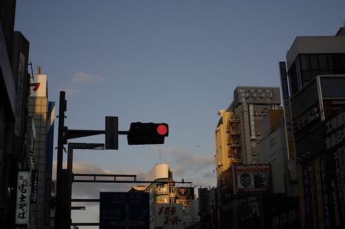 新宿・朝焼け