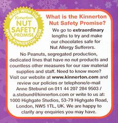 Kinnerton Nut Safety Promise
