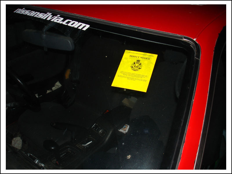 Car Yellow Stickers