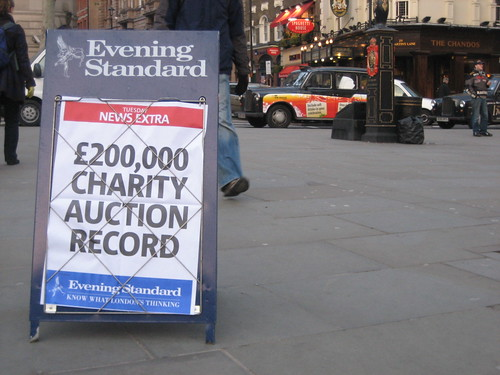 Evening Standard announces its charity auction result