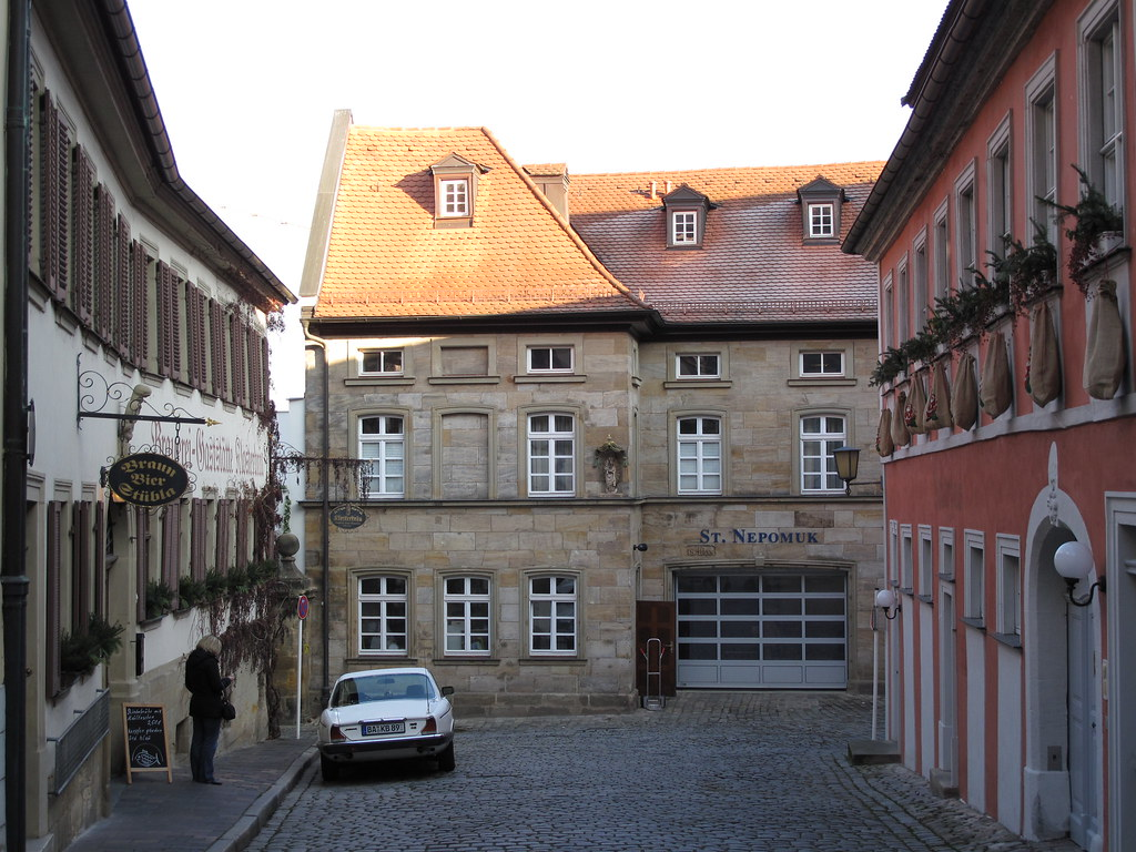 BAMBERG - Our Altstadt-Hotel Molitor in front of the Monastery's Brewery, in the heart of historical centre
