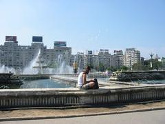 Prachtige fonteinen, leuk in zo'n hitte
