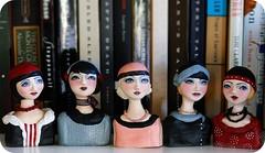 Group shot~doll/busts (du_buh_du_designs) Tags: team buh du valleyofthedolls christinealvarado designsflapper1920s sculpturedu designsbustsado
