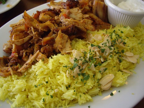 Chicken Schwarma and Saffron Rice from Lavash Cafe (Clintonville, OH)