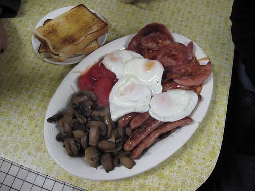 My breakfast on 4 April 2009. Gulp. (Photo by Nicky Getgood)