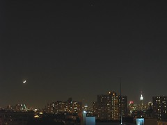 moonset (-dg) Tags: nyc moon skyline timelapse empirestatebuilding moonset chdk