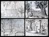 Plaza Belgrano R. (Lucy Bel) Tags: park plaza trees people urban white black blanco pencil landscape arboles y drawing buenos aires negro perspective lapiz paisaje personas r bancos cbc urbano perspectiva crayon sketches dibujo dominguez belgrano uba bocetos fadu