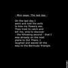 Mini-saga: The last day (ca 2000) (ratexla) Tags: travel black art english writing square death poetry poem text win poems wat fail bullying verdana dikt poesi thelastday dikter almostanything minisaga picturepicturesimageimagesbildbilder