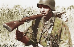 12th   Panzer Division (Cup0fJoe) Tags: france camo ww2 normandy waffenss colorization germansoldier k98 12thssdivision