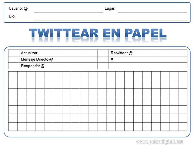 Formato para twittear en papel
