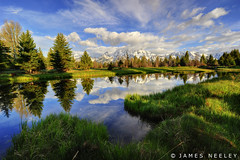 Serenity (James Neeley) Tags: morning landscape tetons hdr grandtetonnationalpark gtnp schwabacherslanding 5xp jamesneeley