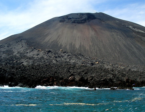western slope of Anak Krakatau