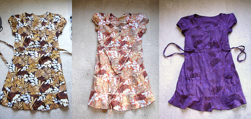 Safari Dress: Bleached & Dyed Purple