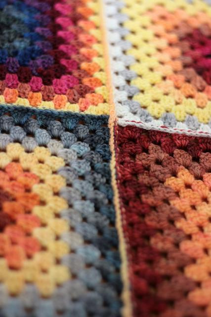 Granny Square Baby Blanket.