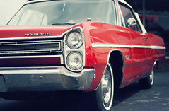 Plymouth Fury (David Salafia) Tags: ri red car vintage antique plymouth fury narragansett fredsmith