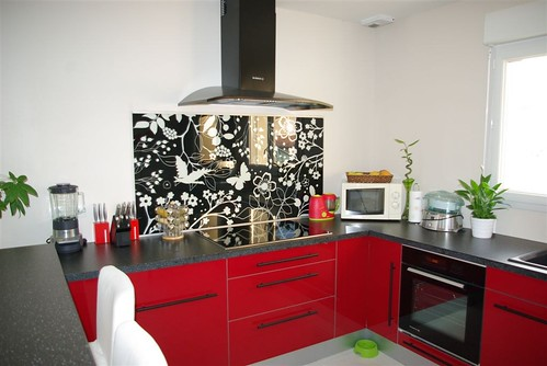Que pensez vous de ma cuisine ikea Abstrakt rouge  69 messages