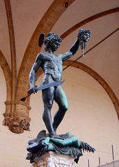 Perseus With the Head of Medusa (Peace Correspondent) Tags: sculpture art beautiful statue bronze d50 florence artwork italia icon tuscany getty firenze arno toscana medusa iconic renaissance perseus gettyimages cellini southerneurope piazzadellasignoria repubblicaitaliana loggiadeilanzi threedimensional centralitaly fv15 blueribbonwinner benvenutocellini italianrenaissance 5photosaday italianrepublic views2000 perseuswiththeheadofmedusa coolestphotographers peacecorrespondent