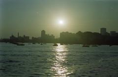 Sunset Mumbai (Jennifer Kumar) Tags: bombay mumbai negativescan queensnecklace india1998 indiasunset