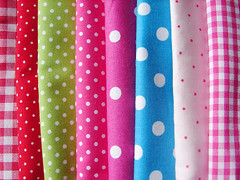 checks and dots (she.likes.cute) Tags: pink blue red green happy colorful polka fabric dots checks