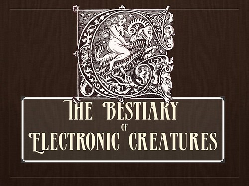 Intro Slide for the Bloging Bestiary