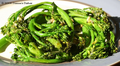 "Pan ""Fried"" Broccolini with Garlic"