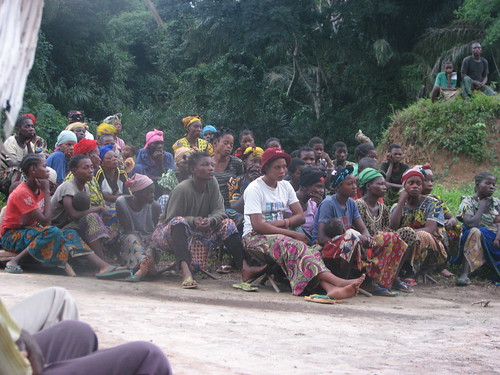 Obenge village listens to Mme A.T.