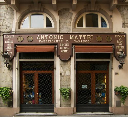 Immagine - Insegna - Antonio Mattei - Fabbricante di Cantucci - Negozio