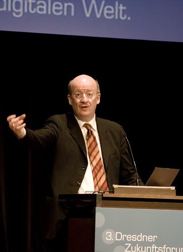 Prof. Wolfgang Wahlster auf dem 3. Dresdner Zukunftsforum