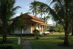 Uitzicht op onze villa