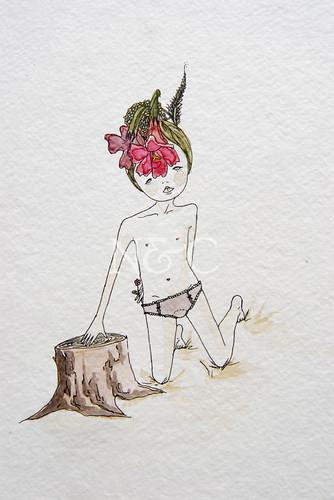 Une Nymphe des Fleurs
