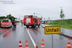 VU mit Motorrad B40 Kostheim 12.06.08
