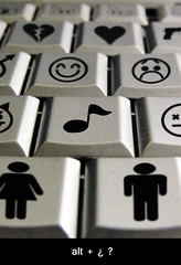 Life Keyboard (-Sebastian Vargas-) Tags: life boy music macro girl keyboard heart teclado alt buttons emoticons musica etc smilie supermacro heartbreak combinations