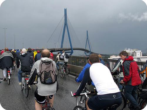 Hochfahrt Köhlbrandbrücke