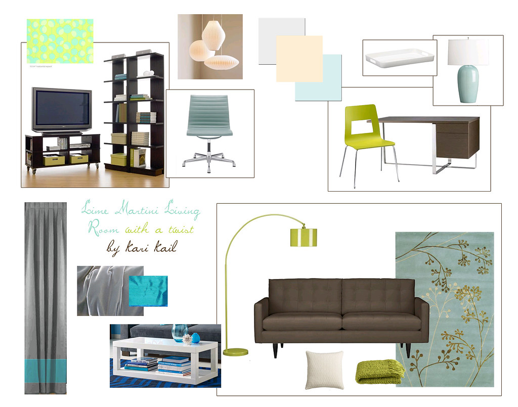 Lime Martini Living Room with a twist