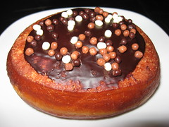 Bouchon Bakery: Boston cream donut (close up)