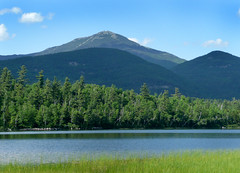 Whiteface Mountain seen from Connery Pond (Deb Snelson) Tags: blue mountains newyorkstate adirondack whitefacemountain travelpic connerypond canon40d debsnelson