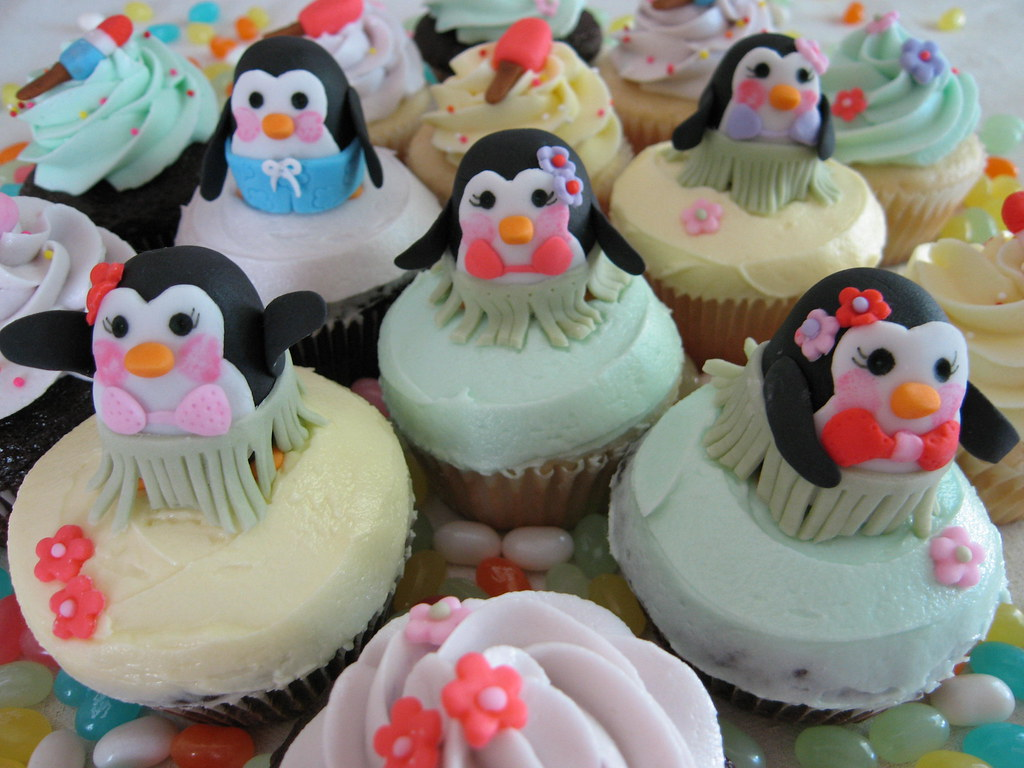 Penguin cupcakes and o...
