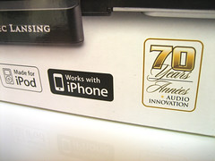 De Altec Lansing T612 was het eerste speakersysteem met iPhone-certificering.