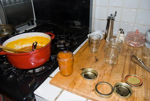 Making Apricot Preserves