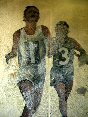 Mural on 1908 Olympics in underpass