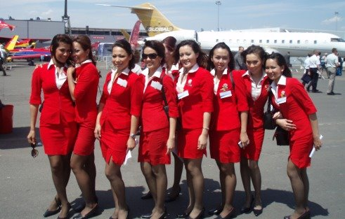 Air Hostesses from around the world