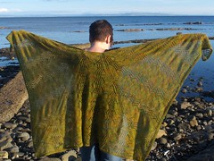 waves in the square full shawl