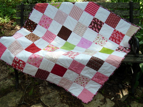 love patchwork quilt