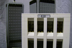 Gotham City Bank (rh1985moc) Tags: lego batman monorail gotham batmanbegins gothamcity arkhamasylum thedarkknight gothamcityrail